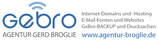 AGENTUR BROGLIE - Domains Hosting EMail Websites Backup Drucksachen